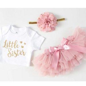 Little sister newborn tutu set